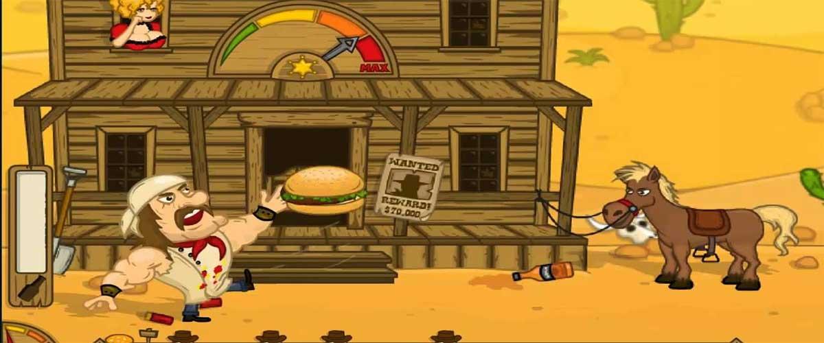 Jugando con hamburguesas vaqueras