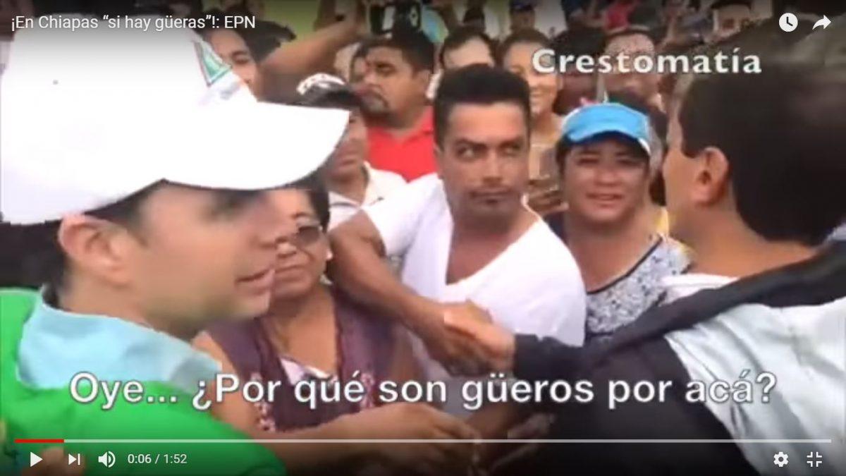 En Chiapas si hay Güeros, se burla Peña nieto. (Video)