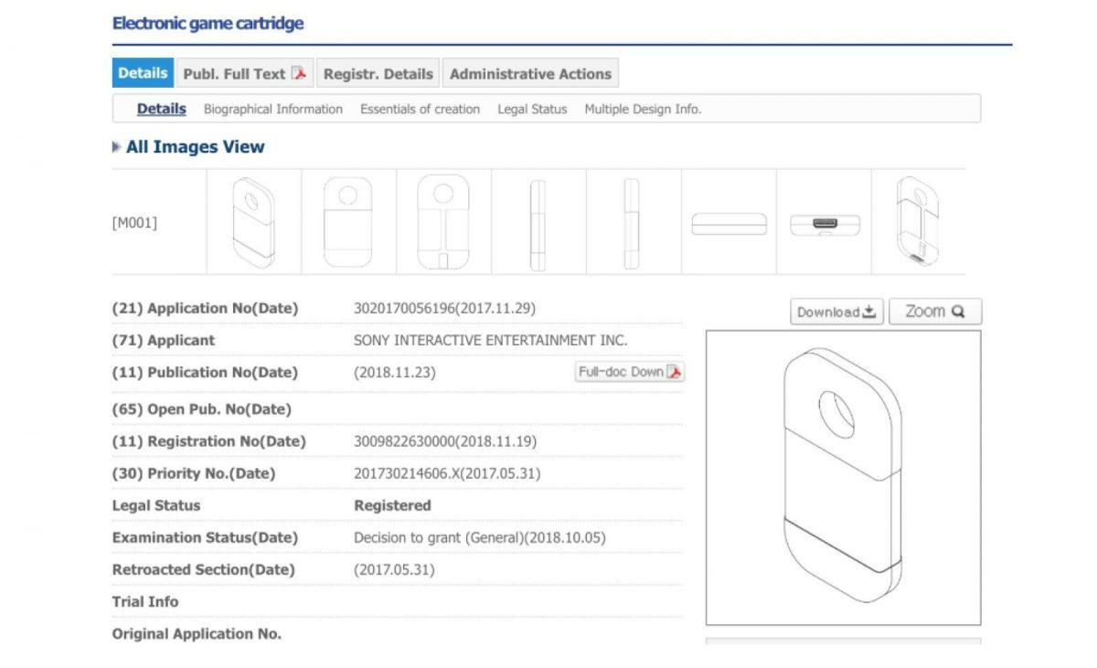 Sony patenta cartuchos para videojuegos